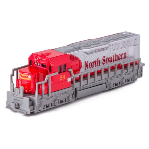 Kinsmart 7 Red Die Cast Freight Train Locomotive Toy with Pull Back Action