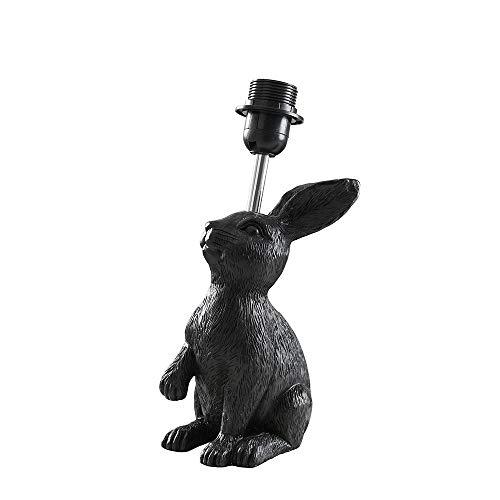 Modern Matt Black Rabbit/Hare Polyresin Table Lamp Base