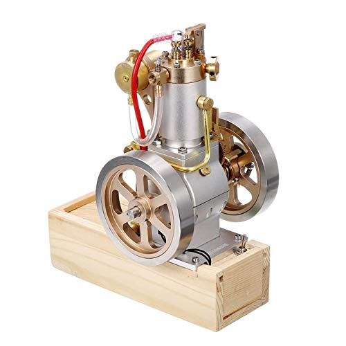 QAZWSX Useful Engine, Vertical Engine Stirling Engine Model Upgraded Version of Water-Cooled Cycle Engine Series Industrial Power Tools (Color : Silver)