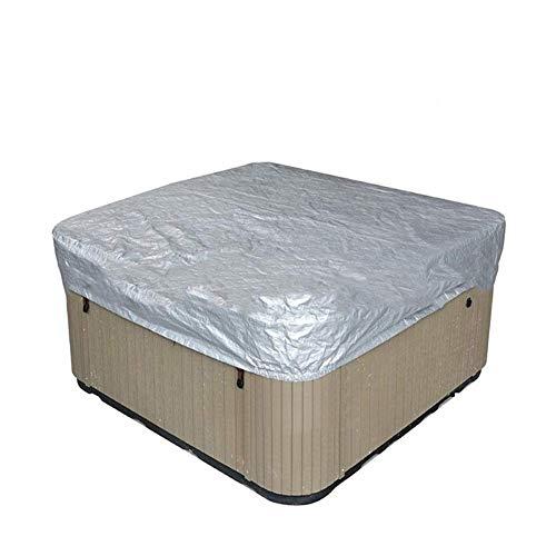 dDanke Cubierta de protección completa impermeable plateada resistente a la intemperie, cubierta cuadrada para bañera de hidromasaje al aire libre (218 × 218 × 30 cm)