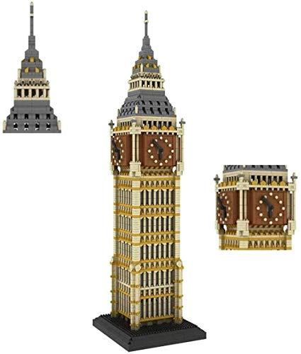 hsj Model Kits Micro Diamant Building Blocks, weltberühmte Architektur Big Ben Kids BAU Educational DIY Spielzeug-Installationssatz for Erwachsene Kinder Geburtstagsgeschenk Exquisite Verarbeitung