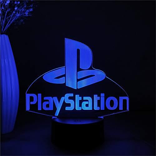 PS Logo Play Station Gamer 3D Led Night Light Desk Lamp Bedside Bedroom Decoration Nightlight Birthday Gift for Kids Child Home Decor Table Lamp