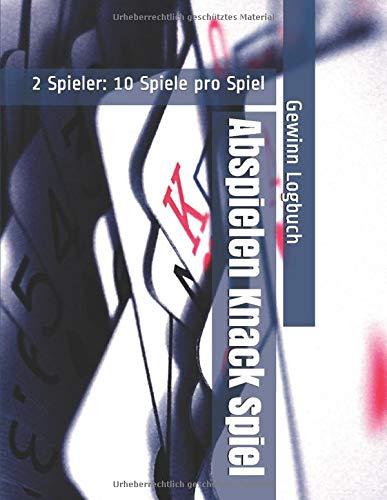 Abspielen Knack Spiel - 2 Spieler: 10 Spiele pro Spiel - Gewinn Logbuch