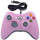 USB Wired Game Pad Controller for Xbox 360, Xbox 360 Slim, Windows PC - Replacement USB Wired Gamepad (Pink)