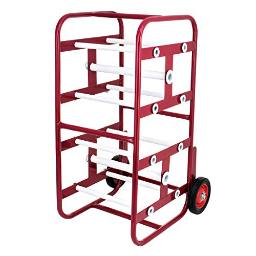 AdirPro Transportable Multiple Axle Cable Caddy - Multi-Spool Wire Rack Dispenser - Easy Use Cable Holder & Distribution - for Workplace Efficiency