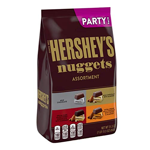 HERSHEY'S Nuggets Valentines Candy Assorted Chocolates, bulk candy, party bag, 1 Pound bag