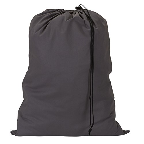 Household Essentials 140-1 Extra Large Natural Cotton Laundry Bag  Heavy Duty Hamper Liner  Grey