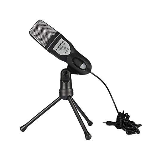 SANON Audio Professionele condensator Microfoon Studio Sound Opname Mic met Arm Stand Kleur: wit