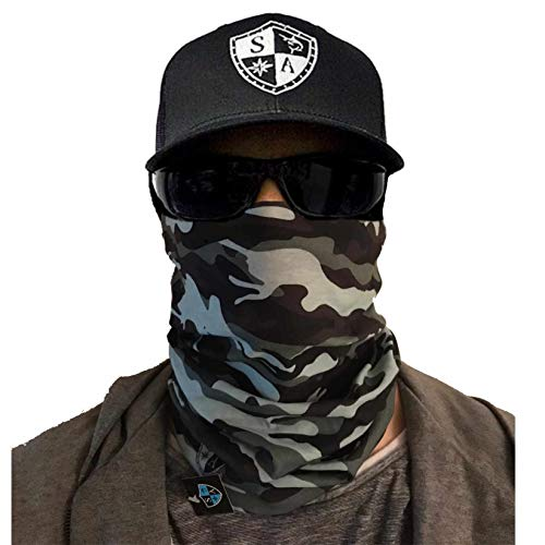 SA Company Herren Face Shield Grey Military Camo