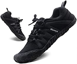 Women's Minimalist Shoes Barefoot Gym Workout Shoes Trail Running Shoes Jogging Indoor Treadmill Fitness Comfortable Black US Size 7 7.5