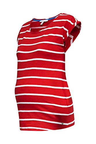 ESPRIT Maternity Damen ss AOP Umstands-T-Shirt, Mehrfarbig (Red 630), 36 (Herstellergröße: S)