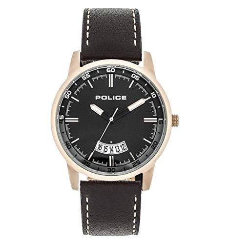 Police Virtual PL.15288JSR/02 - Reloj de pulsera para hombre, color marrón y negro