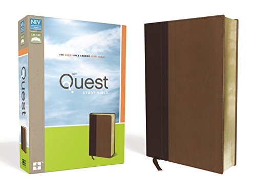 Compare Textbook Prices for NIV, Quest Study Bible, Leathersoft, Burgundy/Tan: The Question and Answer Bible Box Lea Edition ISBN 9780310941507 by Christianity Today Intl.