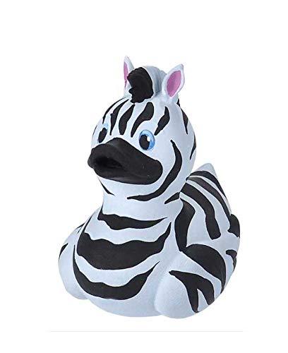 Wild Republic Rubber Duck, Gummiente, Zebra, Badewannen-Geschenke für Kinder, Quietscheentchen, Badespielzeug für Babys, Gummiente lustig, Badeente zum Sammeln, 10 cm