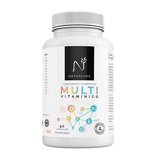Complejo multivitamínico con Vitamina D 3 para hombre y mujer, a base de vitaminas y minerales. Reduce el cansancio, la fatiga y refuerza el sistema inmunitario. 90 cápsulas.
