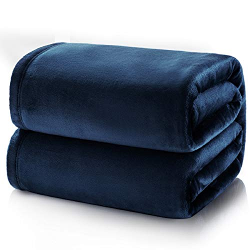 BEDSURE Kuscheldecke Blau große Decke Sofa, weiche& warme Fleecedecke als Sofadecke/Couchdecke, kuschel Wohndecken Kuscheldecken, 230x270 cm extra flaushig und plüsch Sofaüberwurf Decke