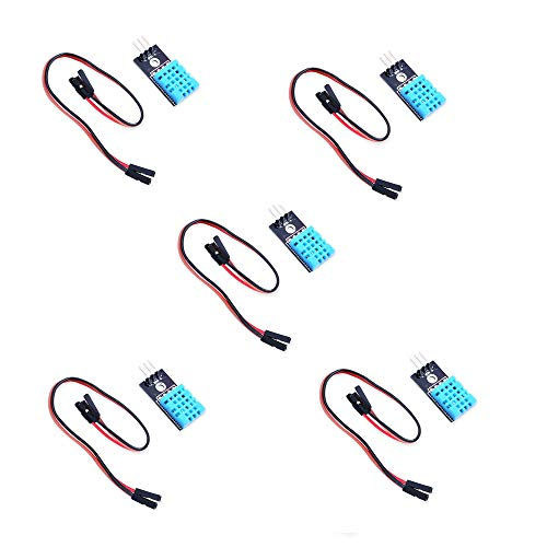 5pcs DHT11 Temperature and Humidity Sensor Module for Arduino Raspberry Pi 2 3