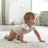 Gerber Baby 8-Pack Short Sleeve Onesies Bodysuits, Solid White, 12 Months