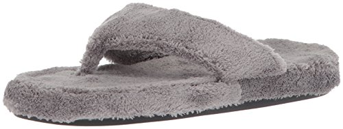 Acorn Women's Spa Thong with Premium Memory Foam, Grey, 8-9