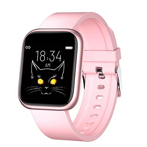 Nobranded X21 - Reloj inteligente para hombre y mujer, monitor de actividad física, pantalla táctil de 1,3 pulgadas, podómetro, monitor de sueño, IP67 resistente al agua, color rosa