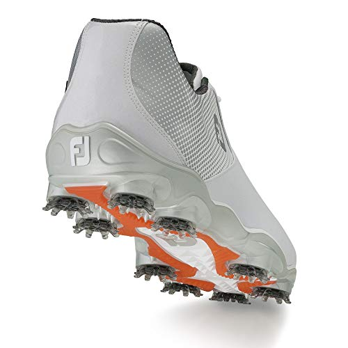 FootJoy Men's D.N.A. Helix-Previous Season Style Golf Shoes White 7 W Silver, US