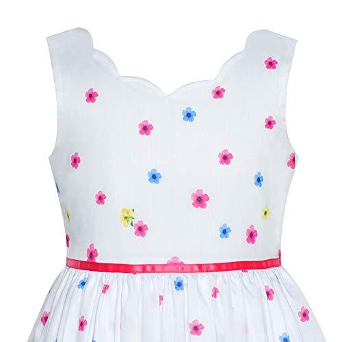 Girls Dress Pink Flower Petal Summer Sundress Size 7