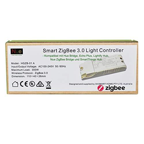 Smart ZigBee, interruttore luce da soffitto o parete per Echo Plus, SmartThings, Lightify Hub, per il controllo delle luci normali con Alexa o Google Voice Control