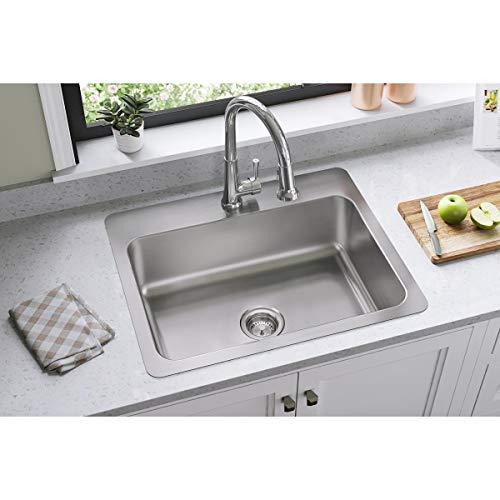 Elkay DSESR127221 Dayton Single Bowl Dual Mount Stainless Steel Sink