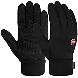 Vbiger Touchscreen Gloves Training Gloves Sport Gloves Anti-Slip Gloves, Black-1, L