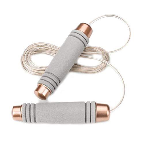 MAOX Corde à Sauter Corde à Sauter poignée en Plastique Anti Slip en Acier Rapide en Mousse Confortable Pad Speed Fil Corde à Sauter Maigrir Gym Accueil PE Supply (Color : Light Grey)