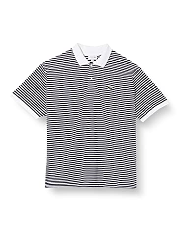 Lacoste Herren PH2382 Polohemd, Blanc/Marine, M