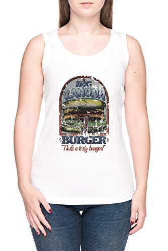 Big Kahuna Burger - Kill Bill Femme T-Shirt Débardeur tee Blanc Women's White Tank T-Shirt