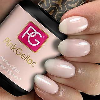 Color de pintauñas permanente Pink Gellac 194 Ivory Blush. Esmalte de gel calidad profesional y fácil aplicación en casa....