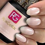 Pink Gellac Shellac Gel Nagellack 15 ml für UV LED Lampe | 194 Ivory Blush Rosa Rose | Gel Nail Polish for UV Nail Lamp | LED Nagel Lack Gellack Nagelgel