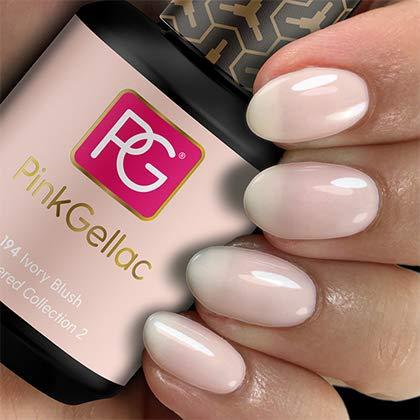 Color de pintauñas permanente Pink Gellac 194 Ivory Blush. Esmalte de gel, calidad profesional y fácil aplicación en casa. Esmaltes de uñas.