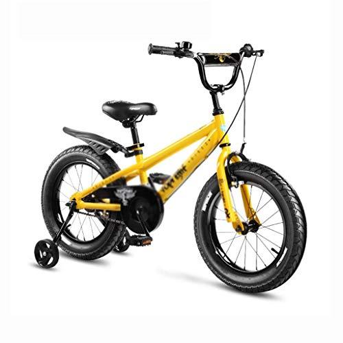 ZWJ-JJ Variable de bicicletas bicicletas de montaña velocidad de bicicletas Los niños de 16 pulgadas ajustable desmontable Estabilizador de bicicletas de color: amarillo, tamaño: 16inch (110 * 40 * 80