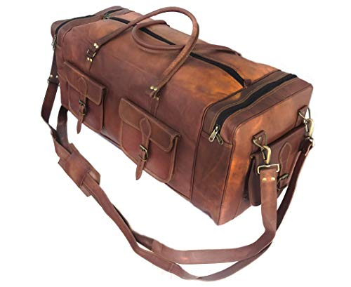 KK's 30 Inch Real Goat Leather Large Handmade, vintage brown, Size 30