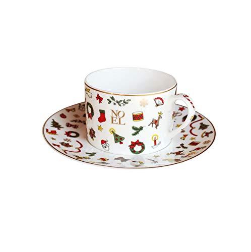 Taitu Noël ORO - Kaffetasse - Teetasse mit Untertasse
