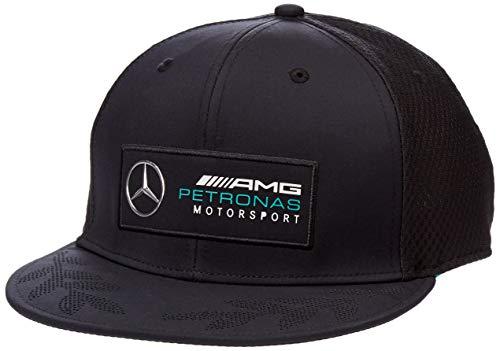 Mercedes AMG Petronas Mercedes Amg Team Flatbrim Cap Black Gorra de béisbol, Negro, Talla única para Hombre