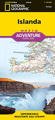 Islanda. Adventure maps