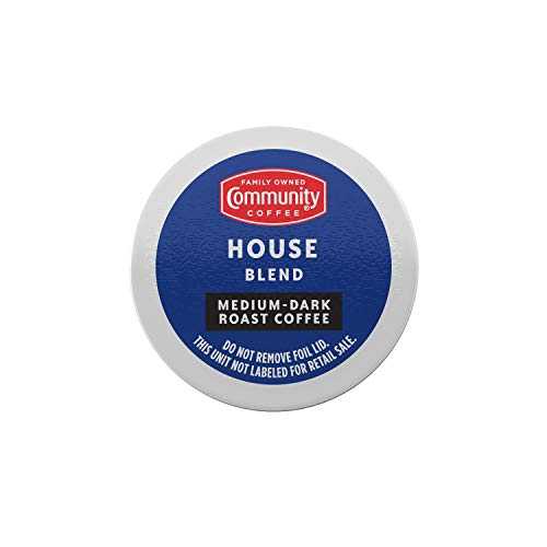 Community Coffee Pods MediumDark Roast Compatible with Keurig 2.0 KCup Brewers Pack of 6, House Blend, 72 Count, (Pack of 12)