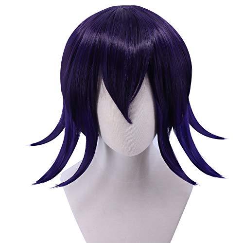Cfalaicos Gradient Black Purple Flips Up Kokichi Ouma Cosplay Wigs