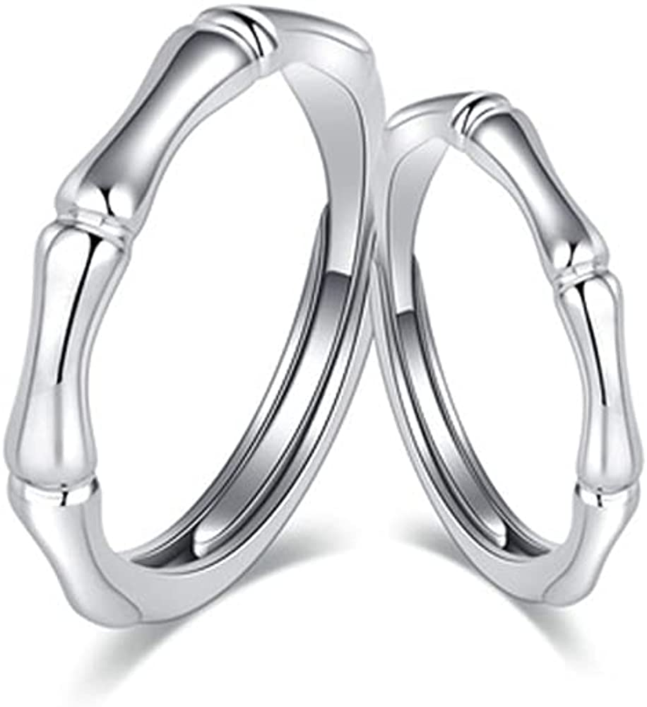 Statement Ring for Couples Bamboo Ring for Women Men Adjustable Wedding Trendy Gold Plated Rings Jewelry Gift