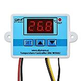 DiyStudio XH-W3002 AC 110V-220V 温度コントローラーデジタル LEDディスプレイ -50℃~110℃サーモスタット±0.1℃高精度加熱冷却制御スイッチ 10A ヒータークーラー 直接出力NTC防水プローブセンサー温度調節器温度補正と遅延スタート機能付き「SET」ボタン付き AC 100Vで使用します最大1500W