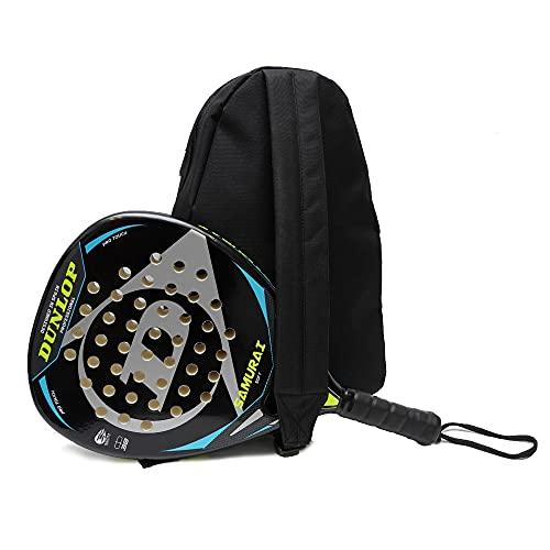 Pala de Padel Dunlop Samurai + Bandolera Siux / Mejores Palas de Padel para Hombre y Mujer / Raqueta de pádel polivalente para Jugadores de Padel de Todos los Niveles
