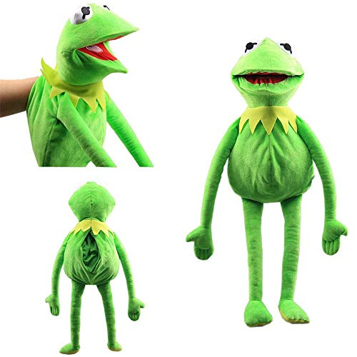 ERTGHJ Frog Puppets Plush Toy, Soft The Frog Plush Hand Puppet Toy, The Muppet Show, Gift Ideas for Boys and Grils 60cm/Green
