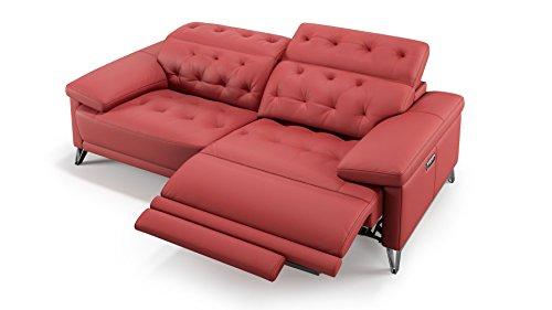 sofanella 2-Sitzer Ledersofa Ledercouch Sofagarnitur Couchgarnitur 2er Relaxfunktion Polstergarnitur