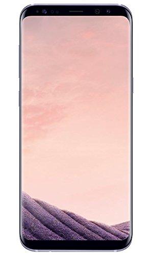 Samsung Galaxy S8 Plus - Smartphone libre (6.2'', 4GB RAM, 64GB, 12MP), Gris orquídea, - [Versión alemana: No incluye Samsung Pay ni acceso a promociones Samsung Members]