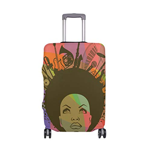 """Travel Luggage Cover African American Woman Colorful Suitcase Protector for 26""""-28"""" Luggage"""