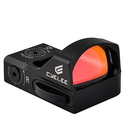 Cyelee Micro Red Dot Sight, Mini 6 MOA Reflex Optics Sight for Pistol/Handgun with Picatinny Mount for Rifles